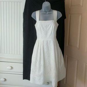 Morgan McFeeters Dresses - Ivory Daisy Eyelet Sundress
